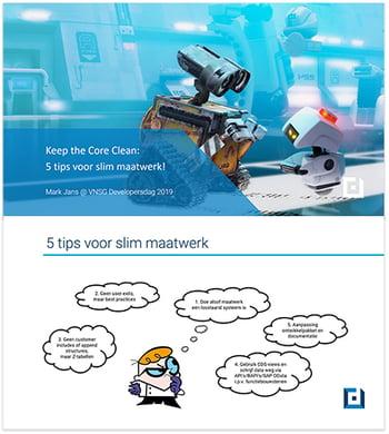 Afbeelding presentatie clean core