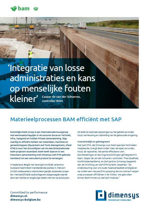 BAM SAP ETM Implementatie Dimensys