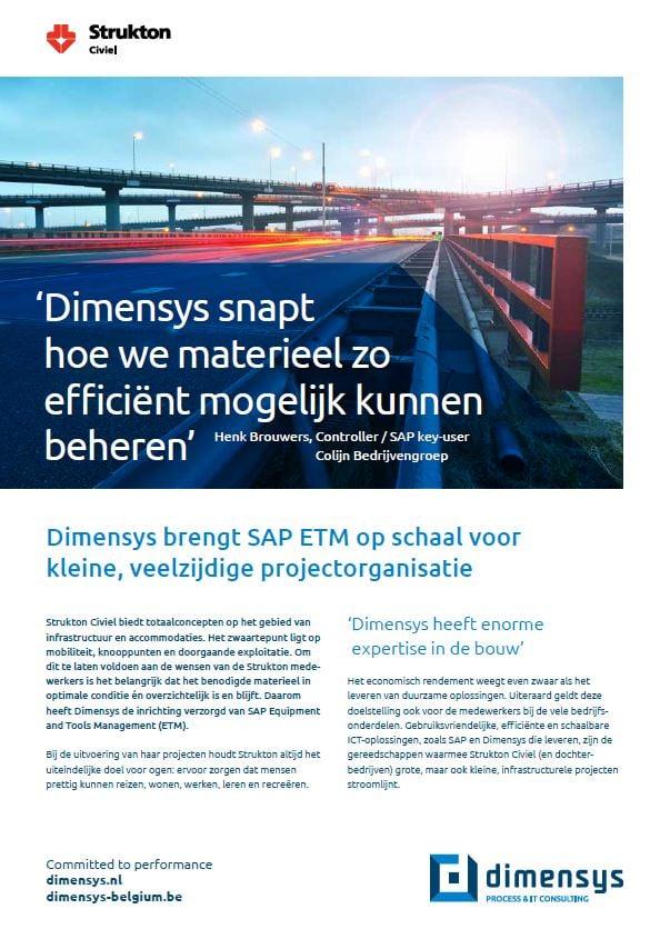 Strukton optimaliseert materieelbeheer met SAP ETM