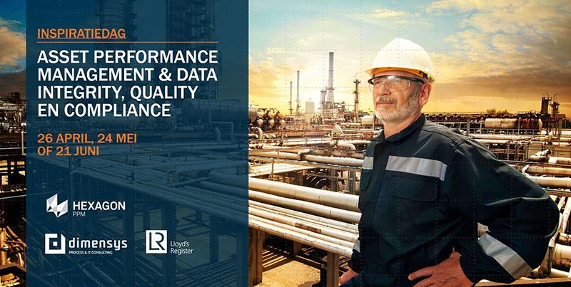 Inspiratiedag Asset Performance & Data Integrity, Quality & Compliance door Lloyds Register, Hexagon en Dimensys