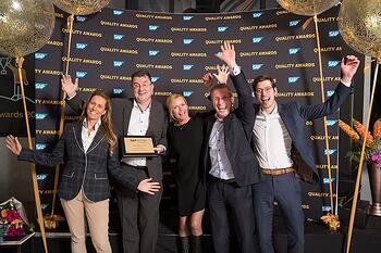 SAP Quality Award 2018 Gold BAM Infra Nederland