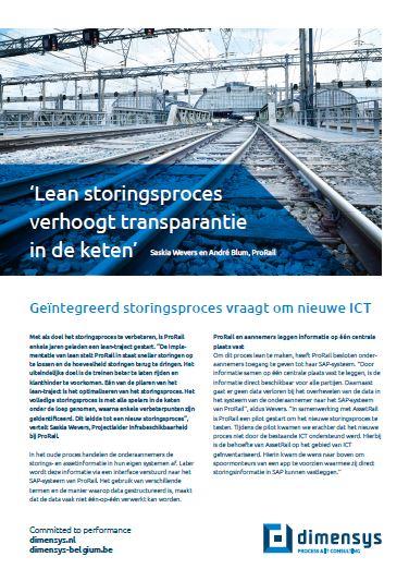 Lean storingsproces ProRail verhoogt transparantie in de keten