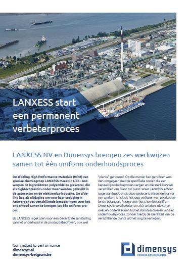 LANXESS en Dimensys brengen 6 werkwijzen samen tot één onderhoudsproces