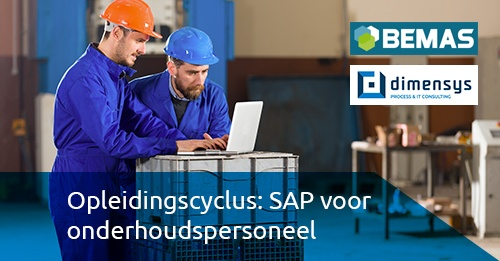Opleidingscyclus SAP voor onderhoudspersoneel