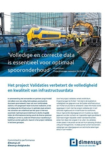 ProRail verbetert volledigheid en kwaliteit infrastructuurdata met SAP