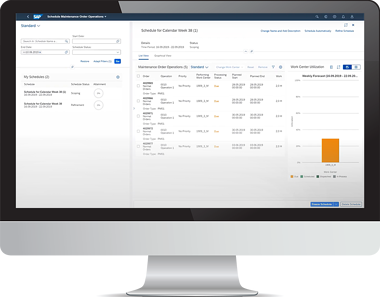 SAP S4HANA Maintenance Order Operations screen - bron: SAP
