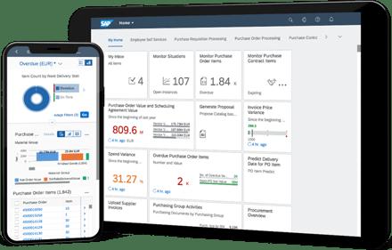 SAP S4HANA New Interface Fiori - bron: SAP