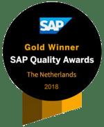 Gold Winner SAP Quality Awards 2018 - Dimensys